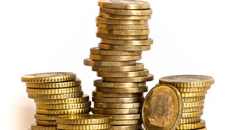Stapel von Geldmünzen