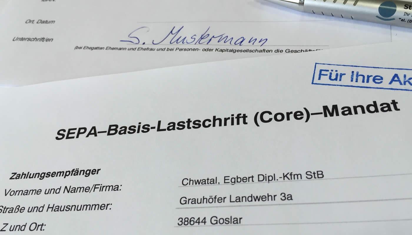 SEPA-Lastschrift-Formular