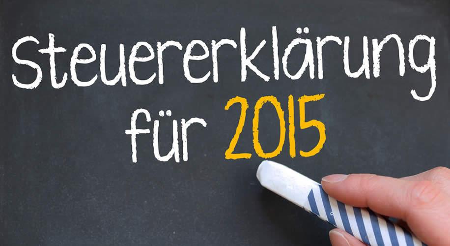 Abgabefrist Steuererklärungen 2015