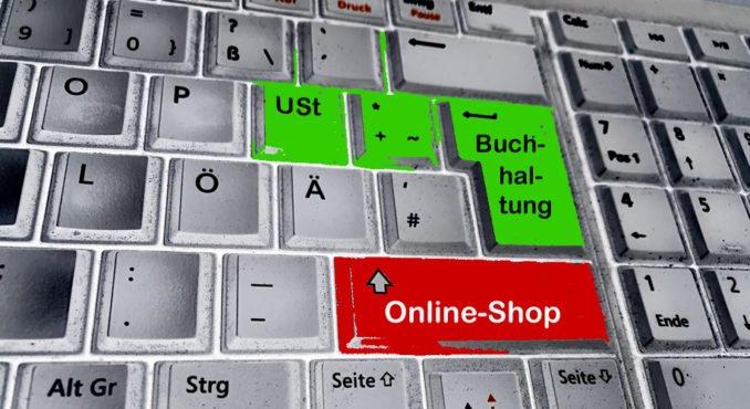Tastatur mit Online-Shop, Buchhaltung und USt