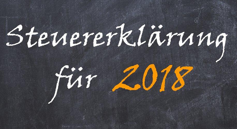Abgabefrist Steuererklärung 2018