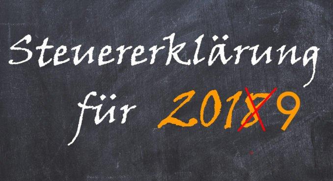 Abgabefrist Steuererklärung 2019