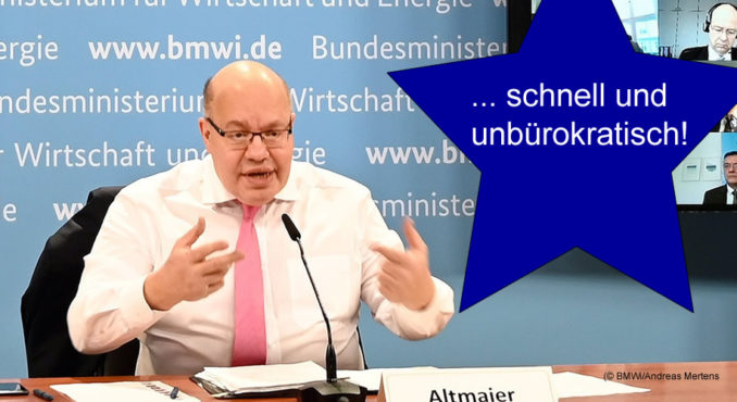 Peter Altmaier vor dem Wirtschaftsgipfel 2021